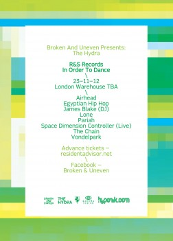 London warehouse party – 23/11